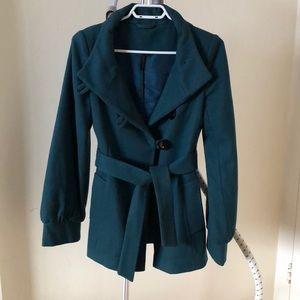 Top shop wool blend pea coat